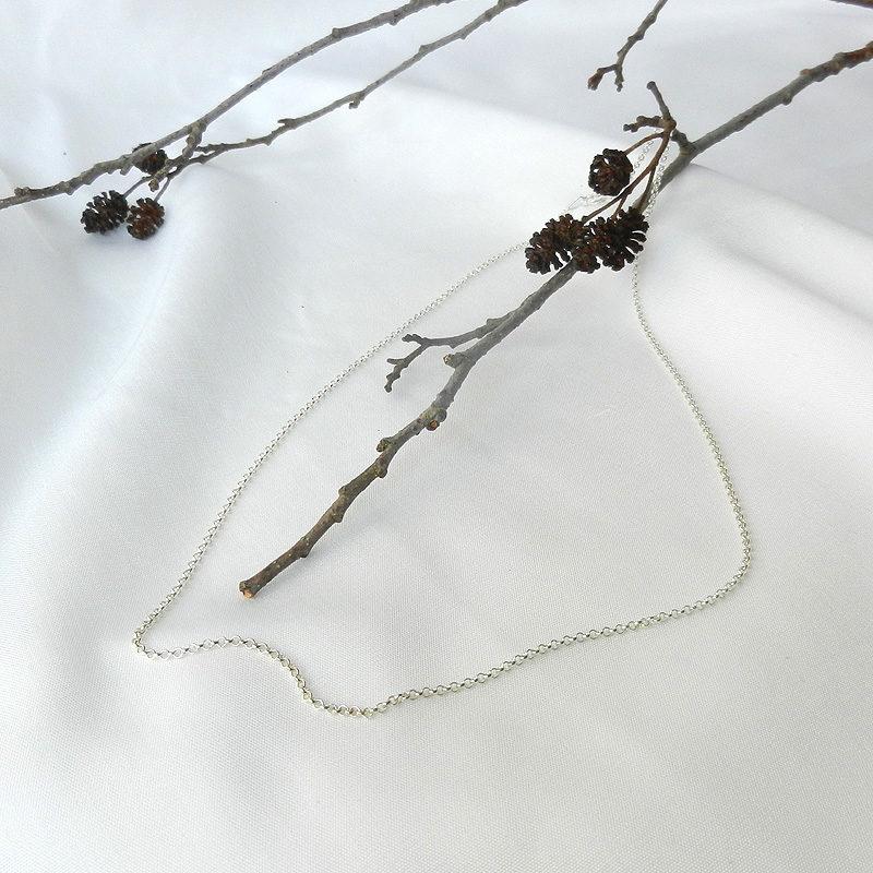 Silberkette 70 cm lang mit Karabinerverschluß, 925er Silber